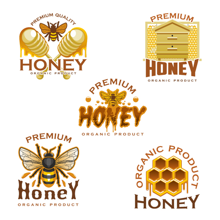 Honey icon set Illustration