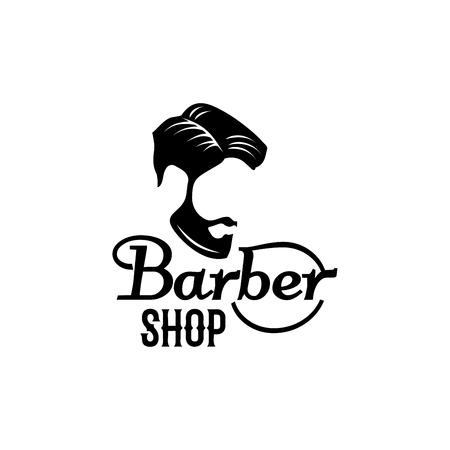 Vector barbershop beard mustache head icon Ilustrace
