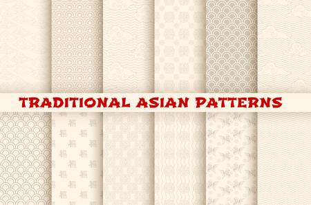 Azjatycki chiński japoński wektor bez szwu wzorów