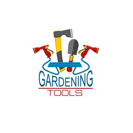 Vector icon of gardening tools for gardener shop Stock Vector - 93261494