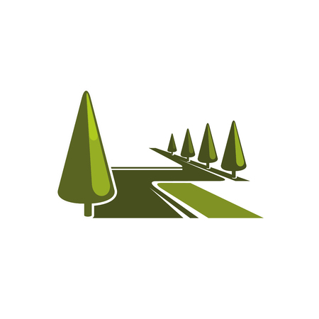 Groen bospark bomen vector eco pictogram
