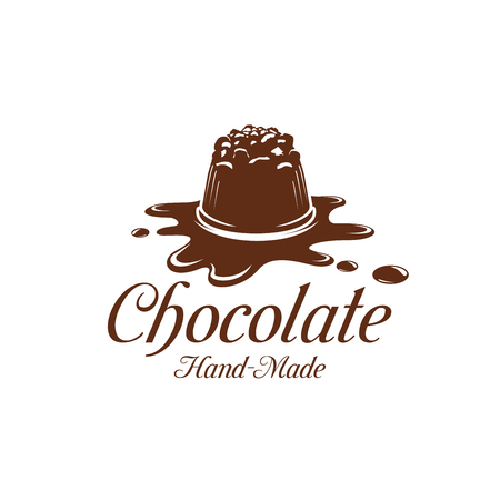 Vector chocolate cake dessert splash pastry icon