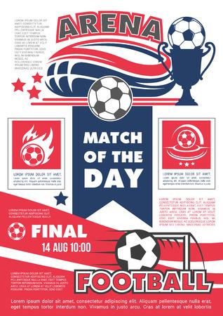 Vector poster for football soccer match