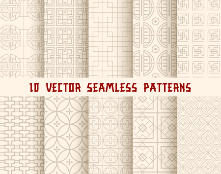 Oriental or asian seamless pattern background Ilustração