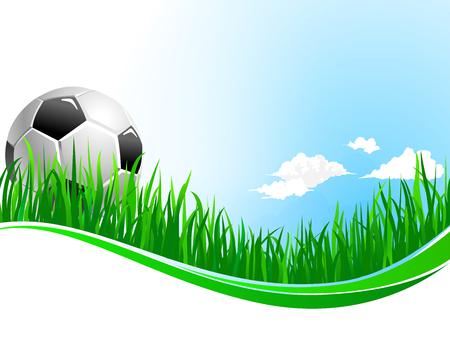 Vector achtergrond voor voetbal voetbalsport Stock Illustratie