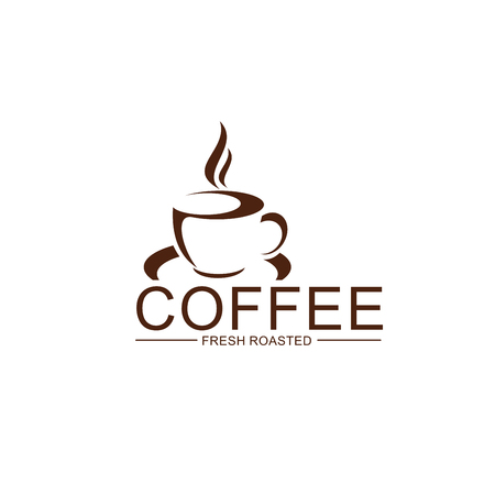 Vector coffe cup steam icon for coffeeshop design