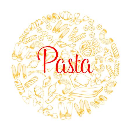 レストラン用イタリアンパスタベクターポスター