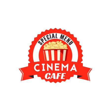 Pop corn box vector icon for cinema cafe menu Vectores