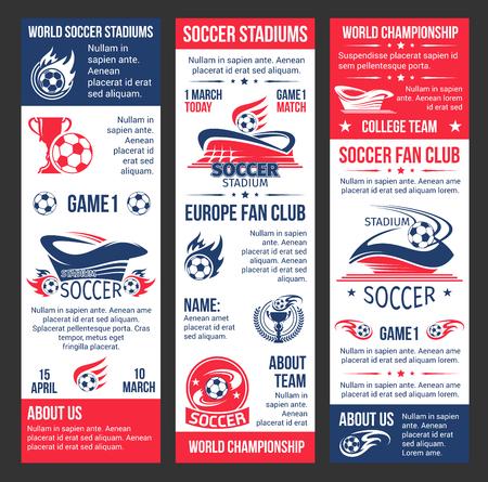 Vector banners voor voetbal match game