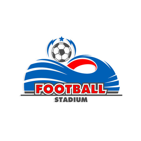 Soccer football ball cup stadium arena vector icon