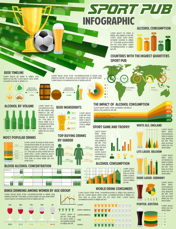 Vector infographic for soccer football pub.
