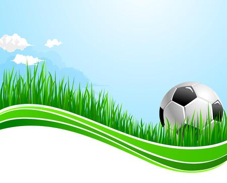 Vector football soccer sport arena background Illustration