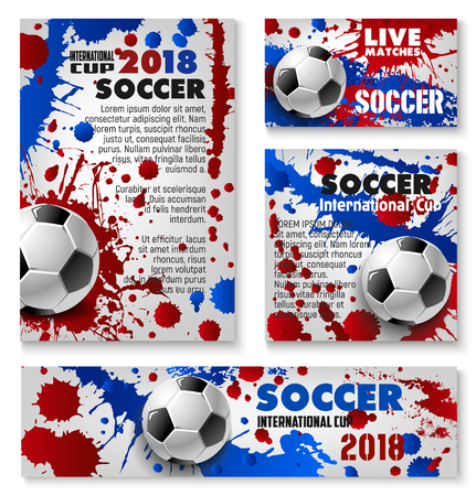 Vector football cup soccer team background posters Çizim