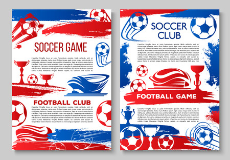 Vector posters of football soccer cup championship
