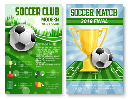 Posters of football soccer cup match
