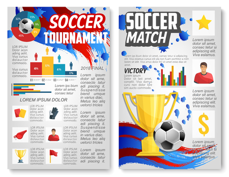 Poster for football or soccer sport match