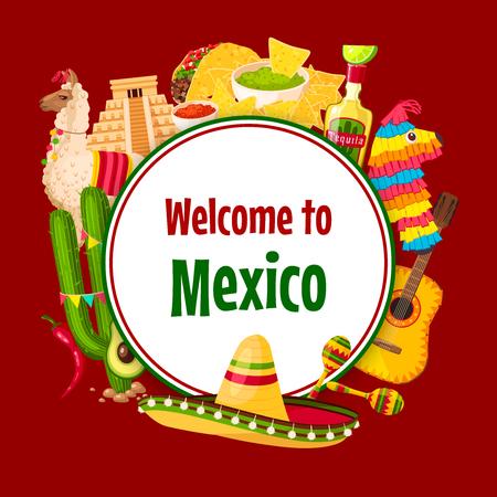 Mexican vector poster Cinco de Mayo 5 May holiday. Illustration