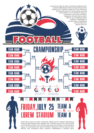 soccer sport game calendar template of football championship