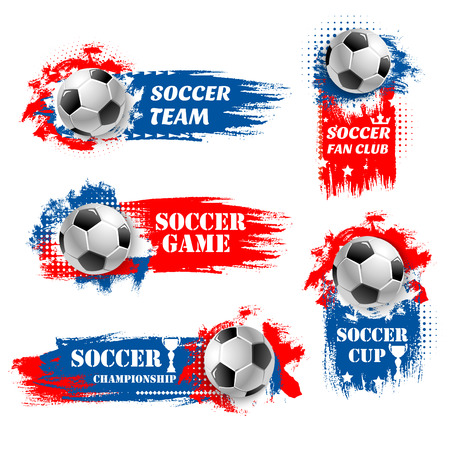 Vector soccer team football championship backdrops Vectores