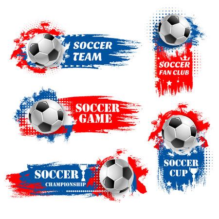 Vector soccer team football championship backdrops Illustration
