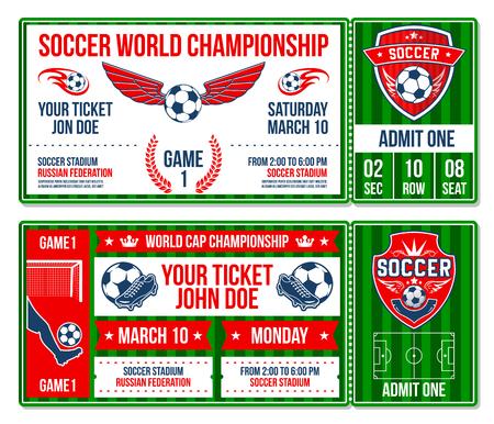 Football soccer team championship vector tickets Illustration