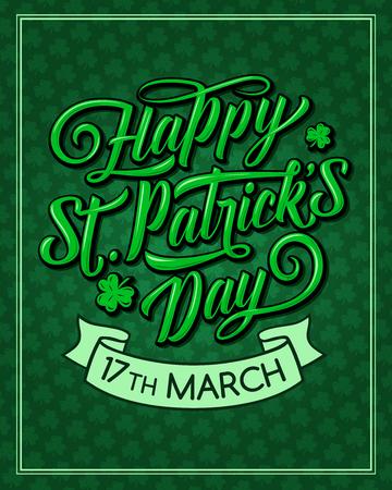 Saint Patrick Day vector pattern greeting card Stock Vector - 95330588