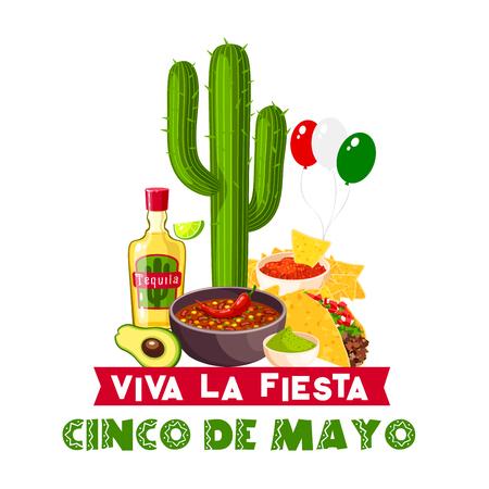 Cinco de Mayo mexican fiesta food and drink icon