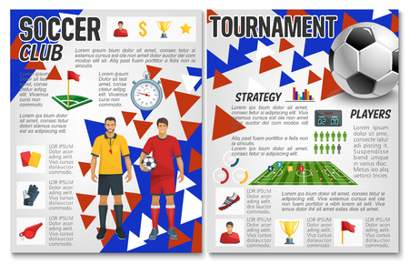 Vector soccer team club football club brochure