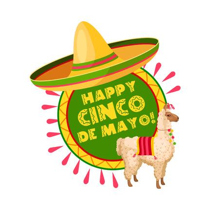 Cinco de Mayo mexican party sombrero greeting card