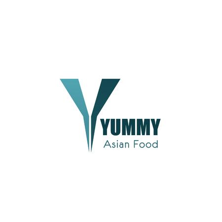Yummy Asian food vector logo