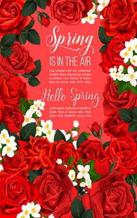 Vector springtime floral poster
