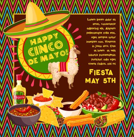 Cinco de Mayo Vektor mexikanische Feier Poster Standard-Bild - 95972427