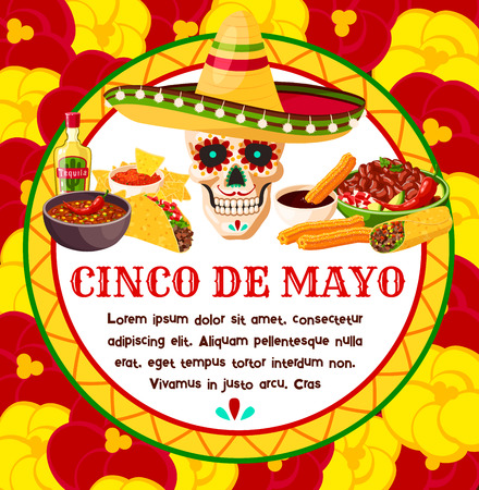 Cinco de Mayo vector Mexican celebration greeting card design