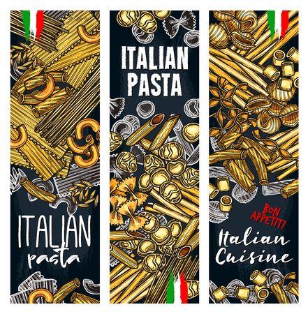 Vector with Italian pasta  イラスト・ベクター素材