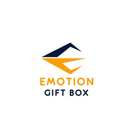 A Vector sign emotion gift box isolated on plain background.
