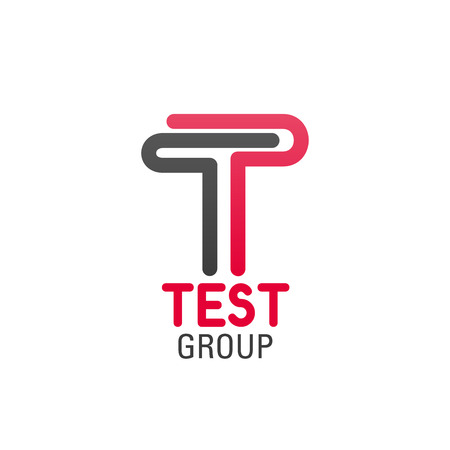 A Logo for test group company isolated on plain background. 向量圖像