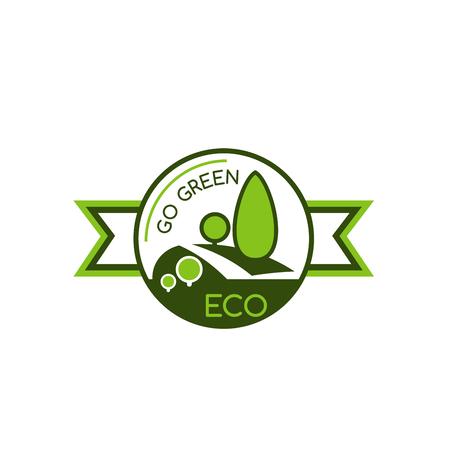 Icon with symbol of saving world environment