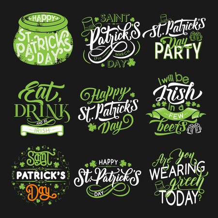 St Patrick green symbol for irish holiday design