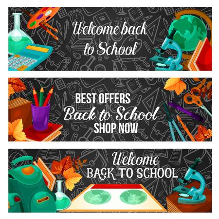Back to school special offer sale banner design