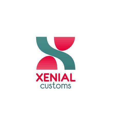 Xenial customs vector logo isolated on plain background.