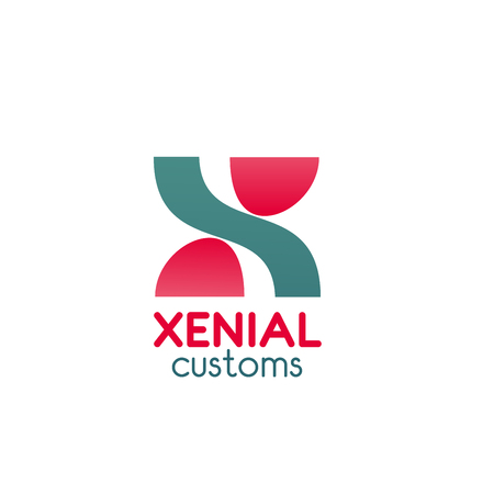 Xenial customs vector logo isolated on plain background.