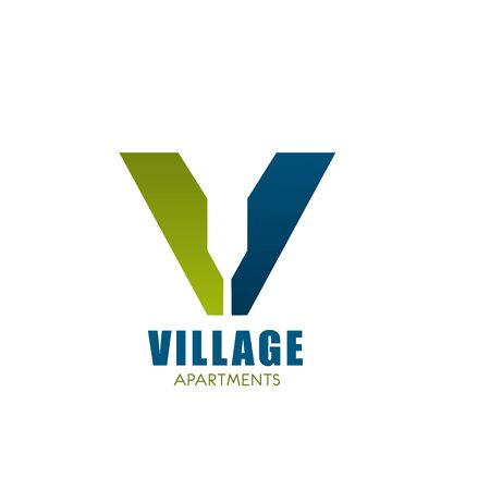 Vector logo for village apartments. Logo design for real estate in countryside. Stock Illustratie