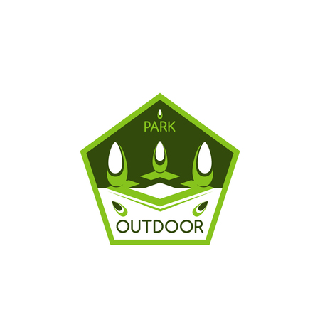 Outdoor landscaping design  icon