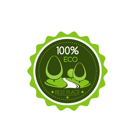 Outdoor green landscaping eco project  icon