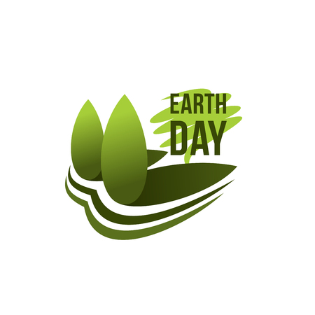 Earth Day planet ecology conservation icon