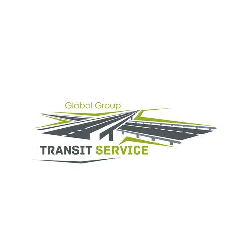 운송 서비스를위한 도로 사거리 아이콘 일러스트