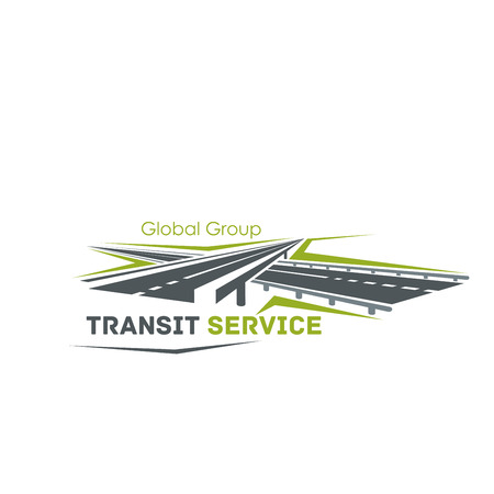 Road crossroad icon for transit service