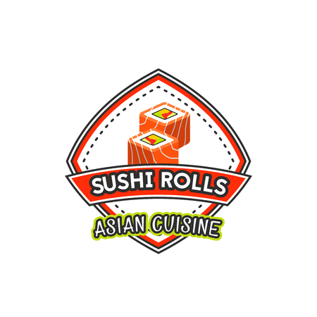 Japanese cuisine restaurant vector sushi icon