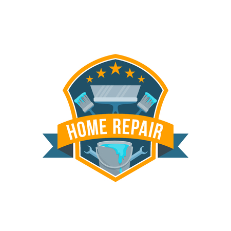 Vector work tools icon for home repair