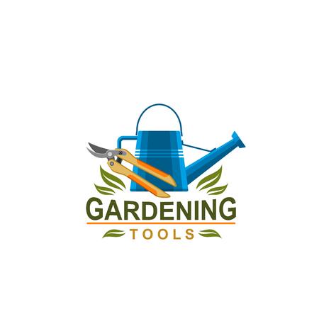Farmer gardening tools vector icon